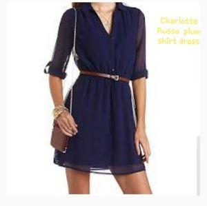 CHARLOTTE RUSSE plum Chiffon dress M